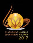 Classement Eduniversal : le Master Droit et Ethique des affaires est classé 8ème dans la catégorie Droit des affaires et Management.